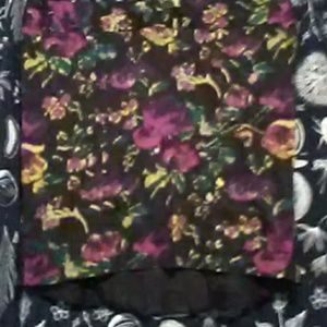 """Torrid"" Abstract floral skirt"